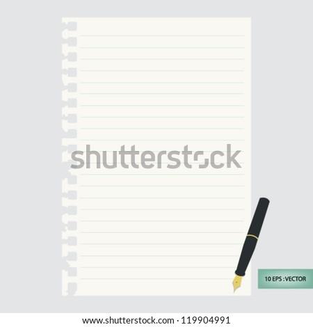 Paper note - stock vector