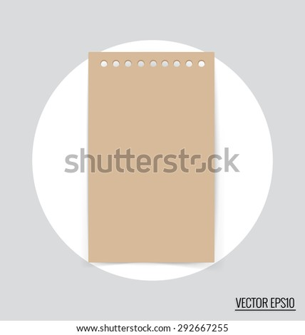 Paper notes. Vector Illustration. - stock vector