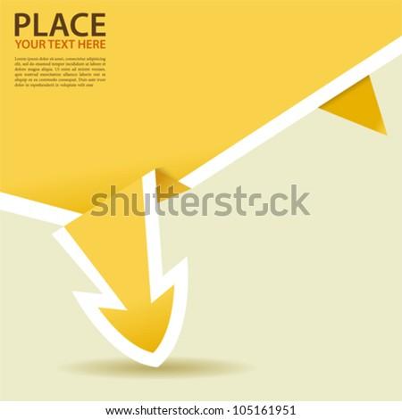 Paper Origami Arrow, element for design, vector illustration - stock vector