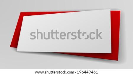 Paper origami banner design - stock vector