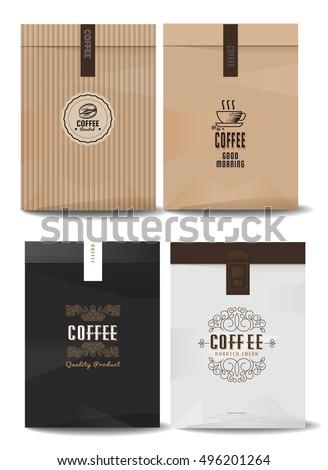 paper package design mock templatecafe restaurant stock vector 496201264 shutterstock. Black Bedroom Furniture Sets. Home Design Ideas