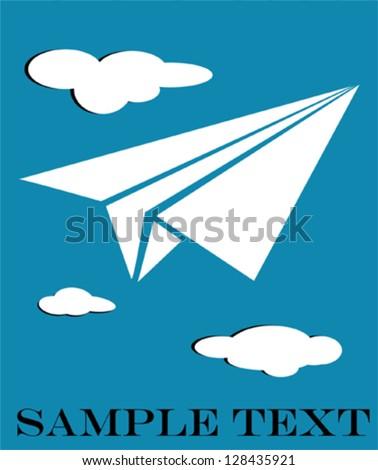Paper plane - stock vector
