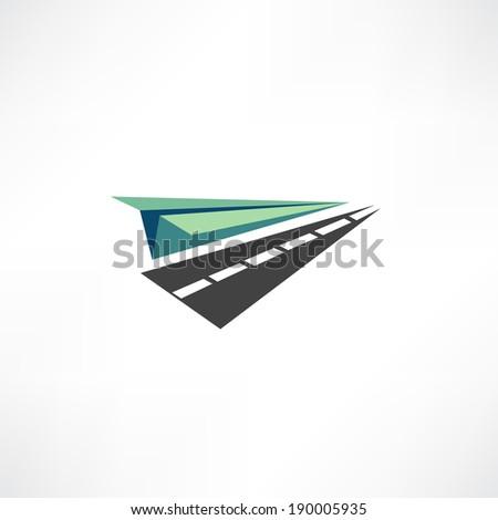 paper plane icon - stock vector