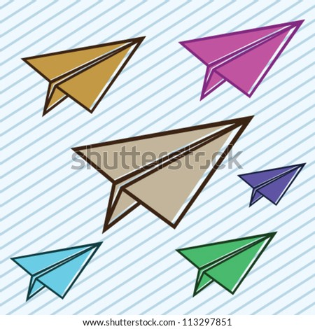 Paper Plane Illustration Vector