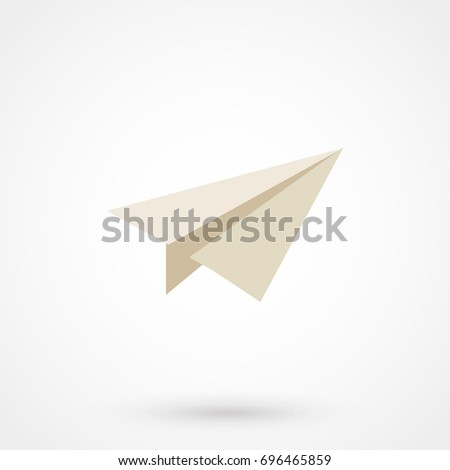 Paper Plane sign. Airplane symbol icon. Vector Eps 10