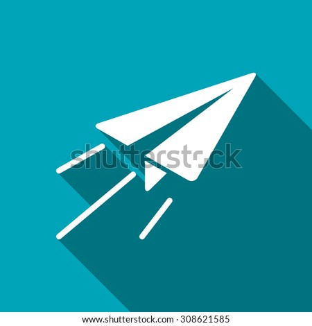 Paper plane sign airplane symbol travel stock vector 320182904 paper plane sign airplane symbol travel icon malvernweather Gallery