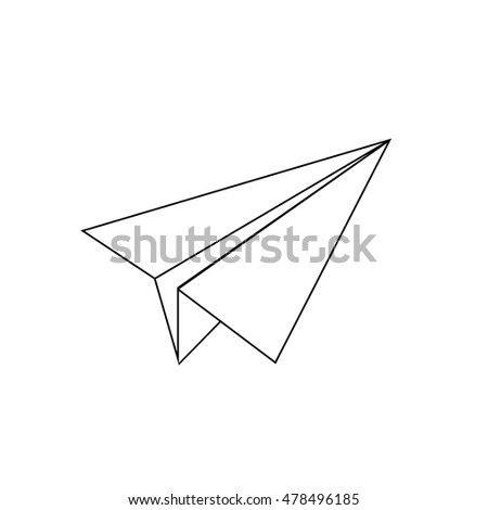 Paper Airplane Vector Sketch Icon Isolated Stock Vector ...