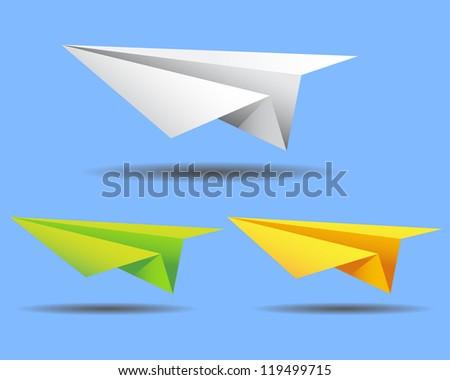 paper plane vector - stock vector