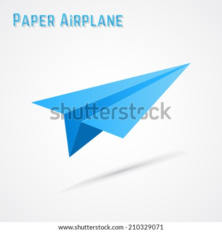 Paper plane vector icon  - stock vector