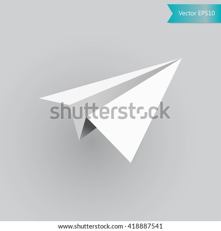 Paper plane, Vector illustration