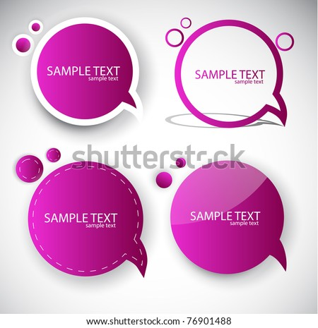 Paper round bubble for speech - stock vector