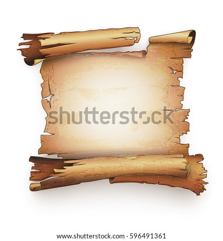 paper scroll old ancient parchment manuscript stock vector, Powerpoint templates