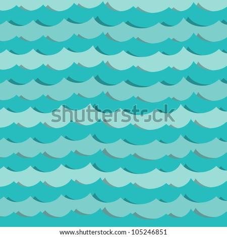 paper sea - stock vector