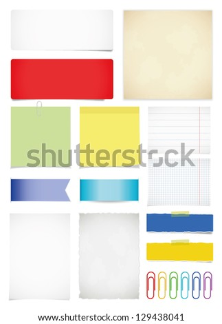 Paper set. Vector illustration - stock vector