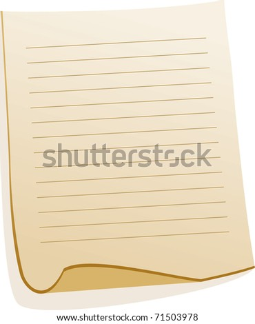 Paper Sheet - stock vector