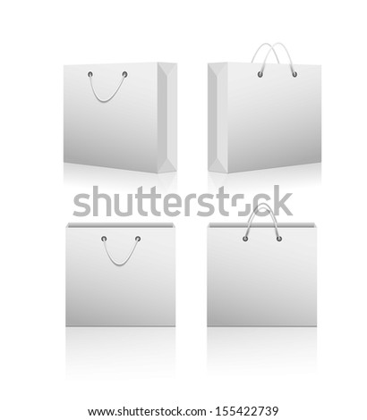 Paper shopping bags. Vector - stock vector