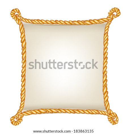 Frame golden rope isolated on white stock photo 115968334 Rope photo frame