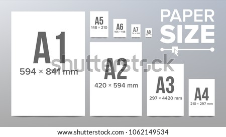 paper sizes vector a 1 a 2 a 3 stock vector royalty free 1062149534 shutterstock. Black Bedroom Furniture Sets. Home Design Ideas