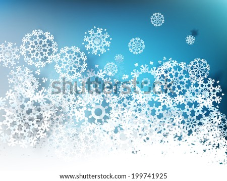 Paper snowflakes for winter background - stock vector