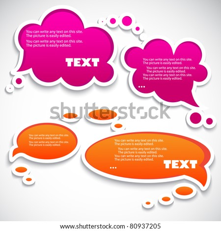Paper speech bubble - stock vector