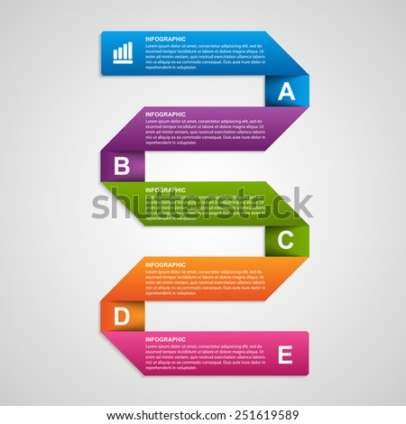 Paper sticker, banners, options infographic. Design element. Vector illustration.
