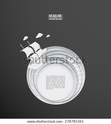 Paper story - stock vector