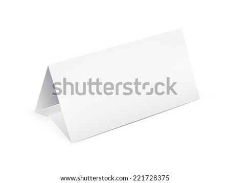 Paper table card, sign template vector illustration - stock vector