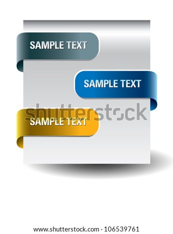 Paper tags. Eps10 Format. - stock vector
