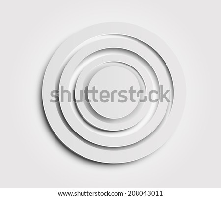 Paper target icon. Vector eps 10 - stock vector