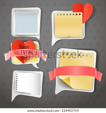 Paper text bubbles clip-art - stock vector