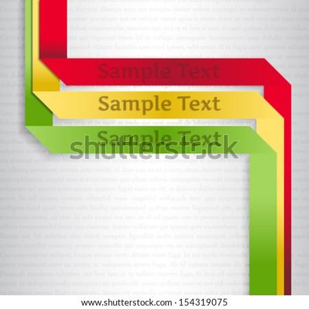 Paper text bubbles. Vector presentation background  - stock vector