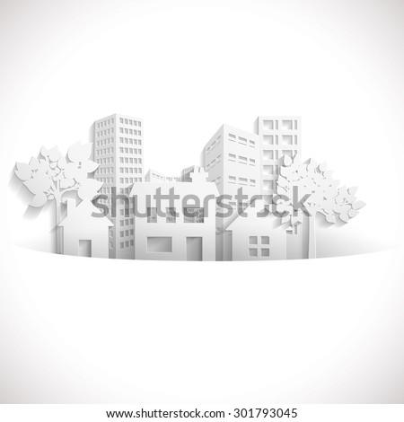 Paper Town - stock vector