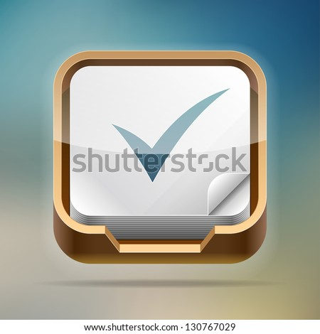 Paper tray icon. Transparent EPS10 vector - stock vector