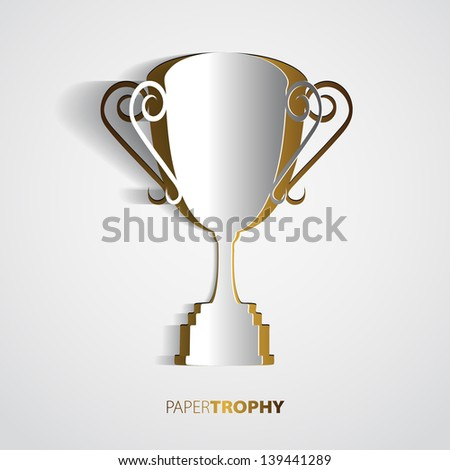 Paper trophy with space for your text - vector - stock vector