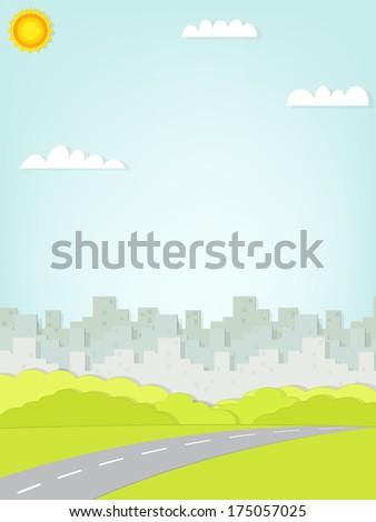 paper urban landscape  - stock vector