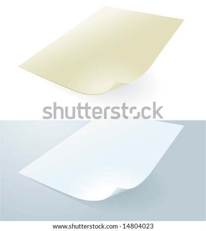 Paper vector collection serie. Office papers, Sample 2. - stock vector