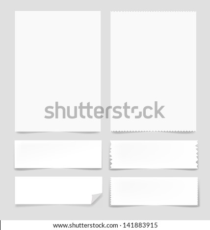 paper vector illustration - stock vector