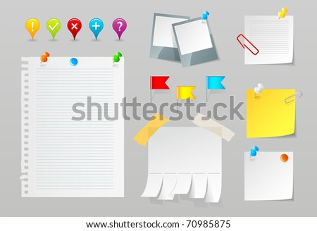 Paper vector set - stock vector
