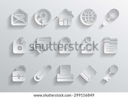 Paper website and internet icons. Vector illustration - stock vector