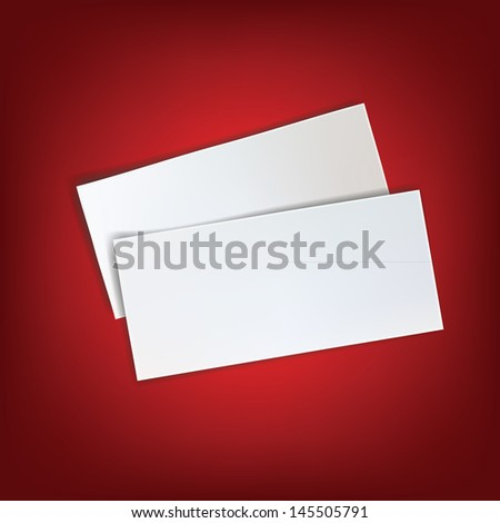 paper white blank red background  page write message isolated empty piece note
