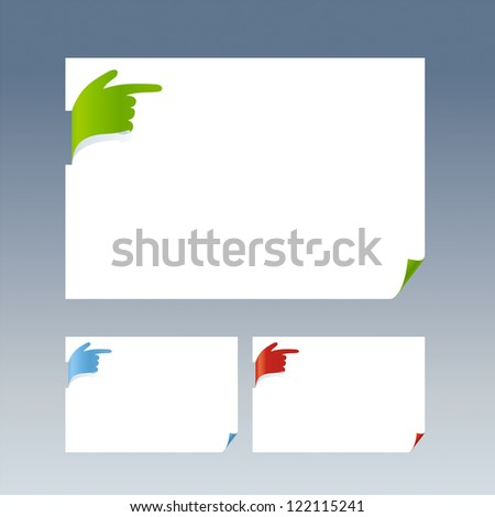 Paper with hand - stock vector
