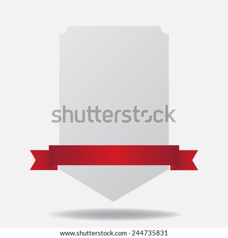 paper with ribbon - stock vector