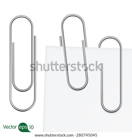 Paperclip set. Vector - stock vector