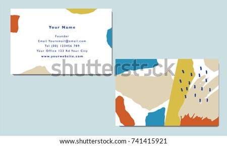 Paper cut abstract collage business card template stock vector papercut abstract collage business card template and vector colourmoves