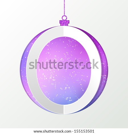 Papercut christmas ball background. Vector EPS10 illustration.