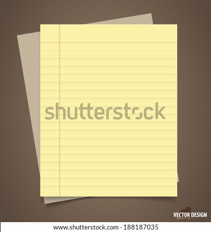 Papers, ready for your message. Vector illustration. - stock vector