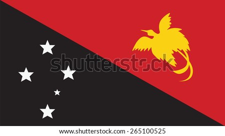 Papua New Guinea Flag for Independence Day and infographic Vector illustration. - stock vector