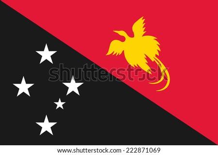 Papua New Guinea vector Flag. - stock vector