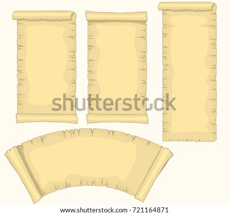 papyrus scrolls set aged blank paper stock vector 721164871, Powerpoint templates
