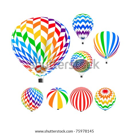 Parachute set, vector illustration, - stock vector